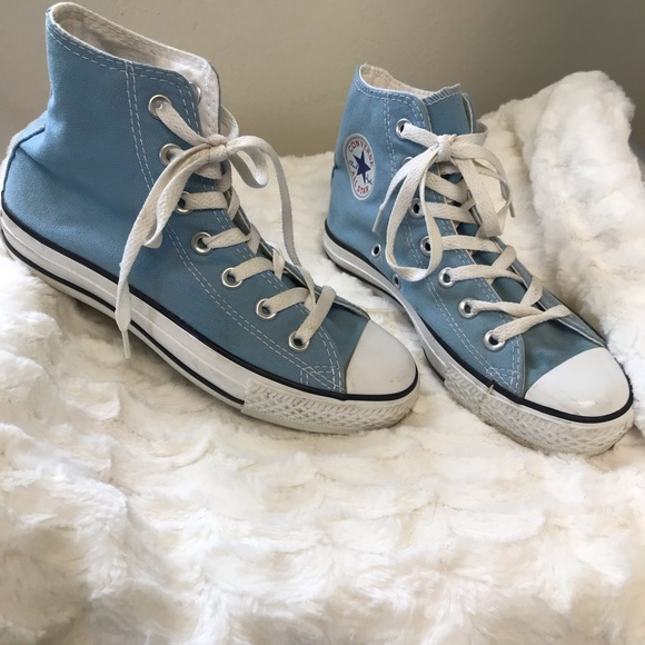 16695a64991b Converse Other - Converse baby blue high tops size kids 3